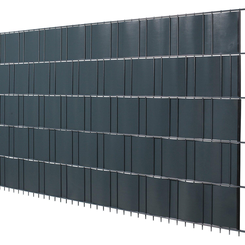 pvc sichtschutzstreifen auf rolle anthrazit 19 cm x 20 5 m kaufen bei obi. Black Bedroom Furniture Sets. Home Design Ideas