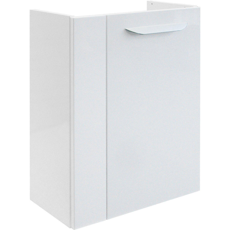 Fackelmann  Gäste-Waschbeckenunterschrank links 44 cm Lavella Weiß