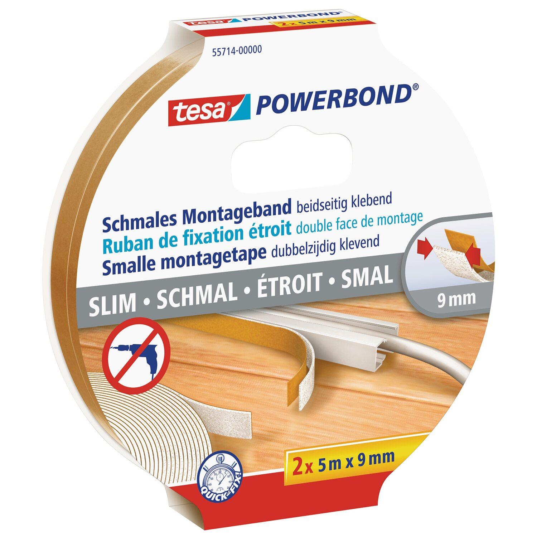 2x Tesa Powerbond Nr 1m = 4,87€ 55791 Doppelseitig Montageband 1,5mx19mm