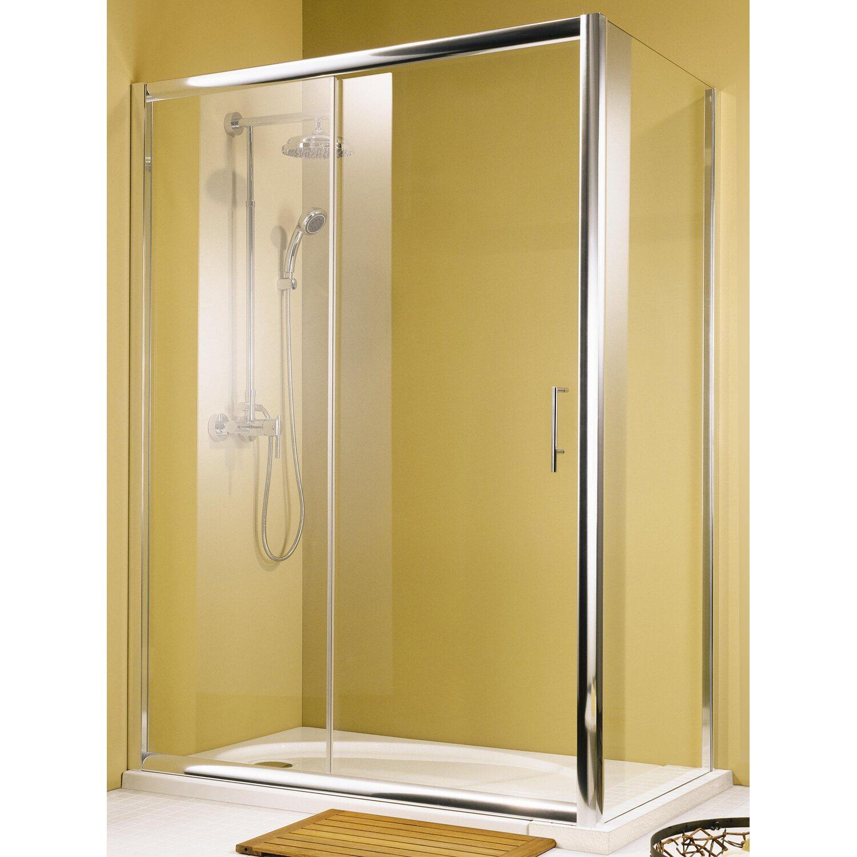 schulte kristall trend gleitt r echtglas chrom optik kaufen bei obi. Black Bedroom Furniture Sets. Home Design Ideas