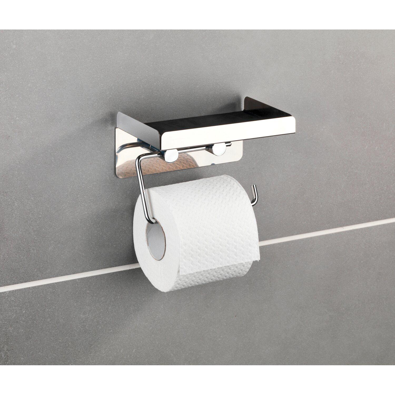 wenko toilettenpapierhalter edelstahl mit gro er ablage kaufen bei obi. Black Bedroom Furniture Sets. Home Design Ideas