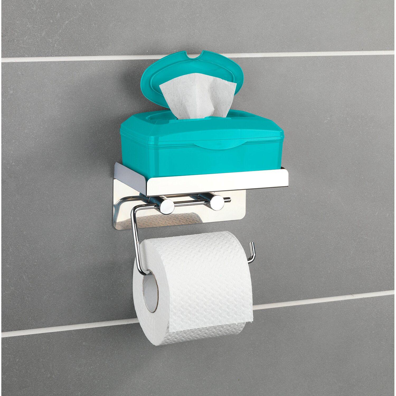 Toilettenpapierhalter Mit Feuchttücherbox : wenko toilettenpapierhalter edelstahl mit gro er ablage kaufen bei obi ~ A.2002-acura-tl-radio.info Haus und Dekorationen