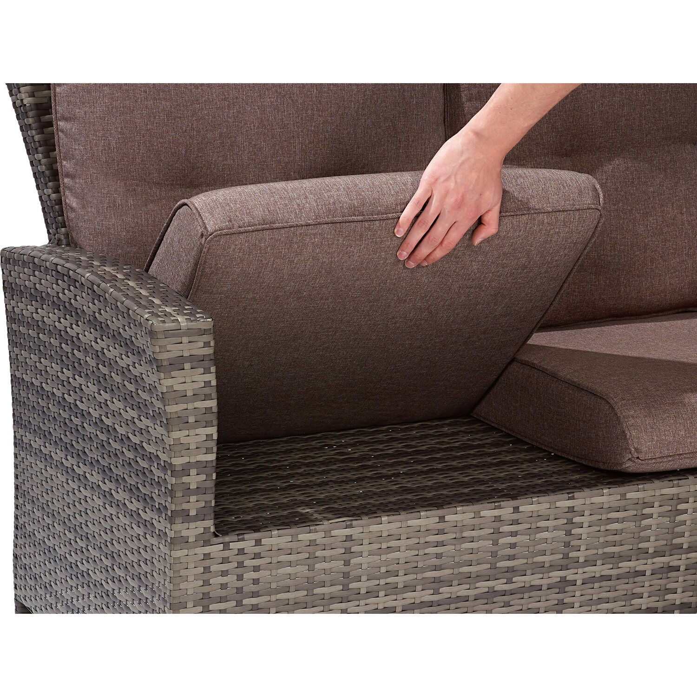 Gartenbank 3 Sitzer Rattan | Dekoration Ideen