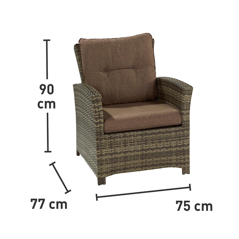 obi esstisch lounge gruppe vermont shadow earth polyrattan 6 tlg kaufen bei obi. Black Bedroom Furniture Sets. Home Design Ideas