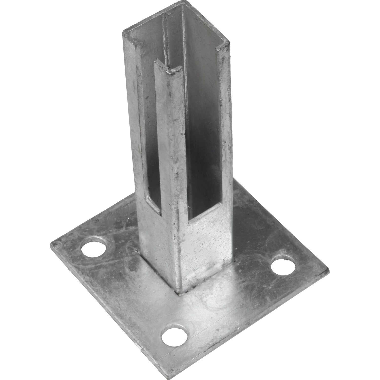 Bodenplatte für Zaunpfosten 40 x 40 mm Verzinkt kaufen bei OBI