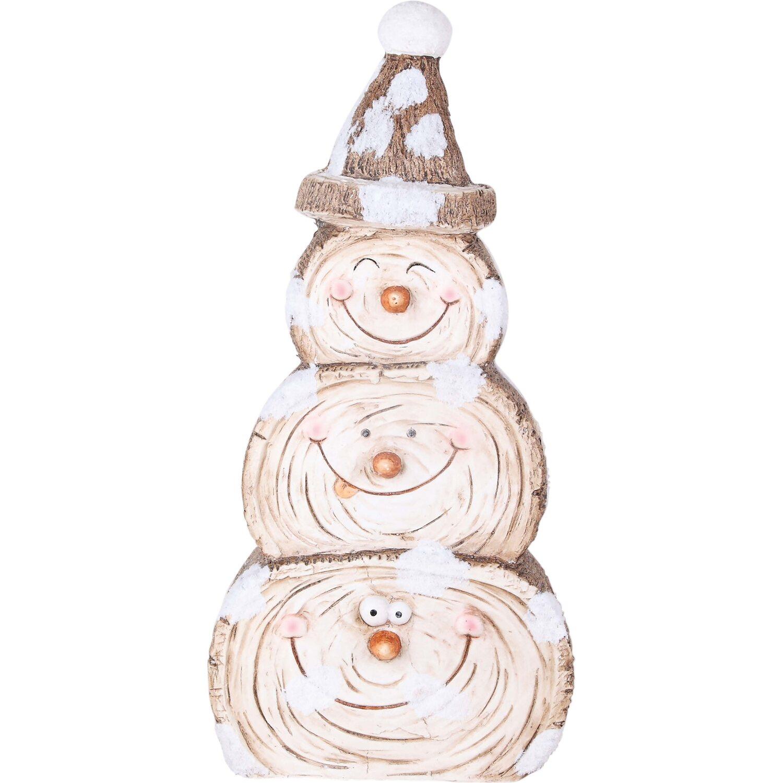 Weihnachtsbeleuchtung Schneemann Außen.Deko Figur Schneemann Mit Mütze Polystone Innen Und Außen Kaufen Bei Obi