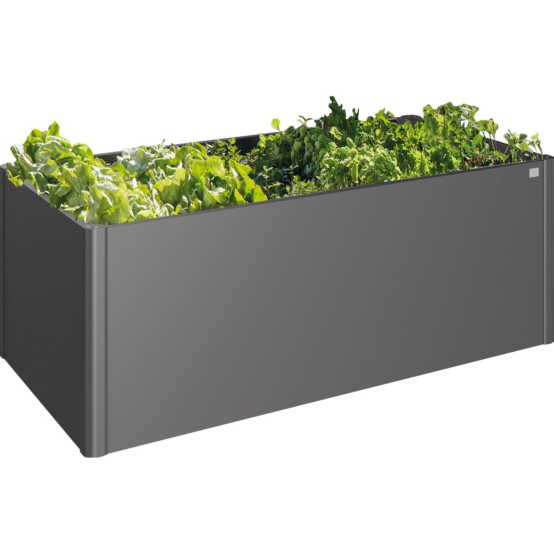 biohort hochbeet 77 cm x 201 cm x 102 cm metall dunkelgrau. Black Bedroom Furniture Sets. Home Design Ideas