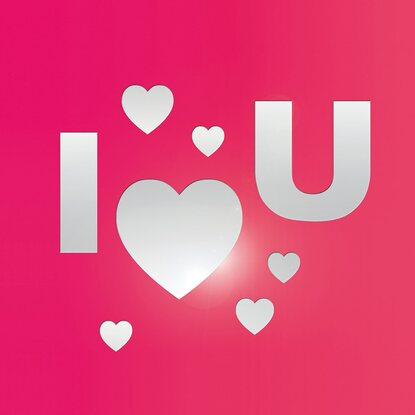 Eurographics Spiegelsticker I Love You