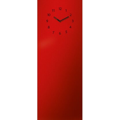Eurographics Memoboard Time Board Red Clock 30 cm x 80 cm