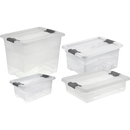 Kristallboxen Cornelia 4er-Set Transparent