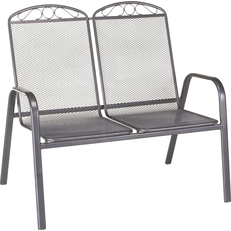 obi gartenbank sacramento ii 99 cm x 106 cm x 71 cm grau. Black Bedroom Furniture Sets. Home Design Ideas