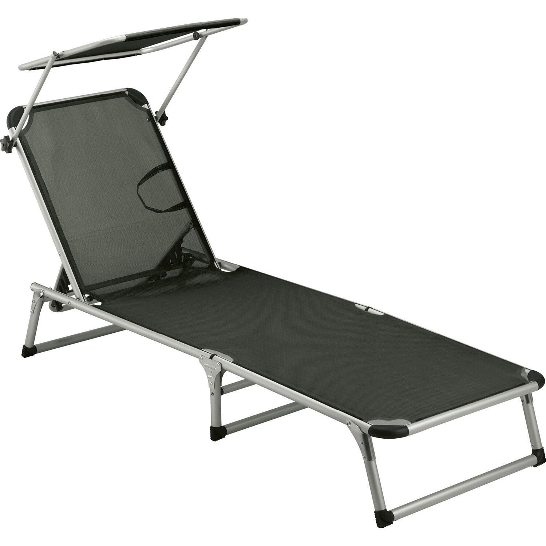 sonnenliege anthrazit kaufen bei obi. Black Bedroom Furniture Sets. Home Design Ideas