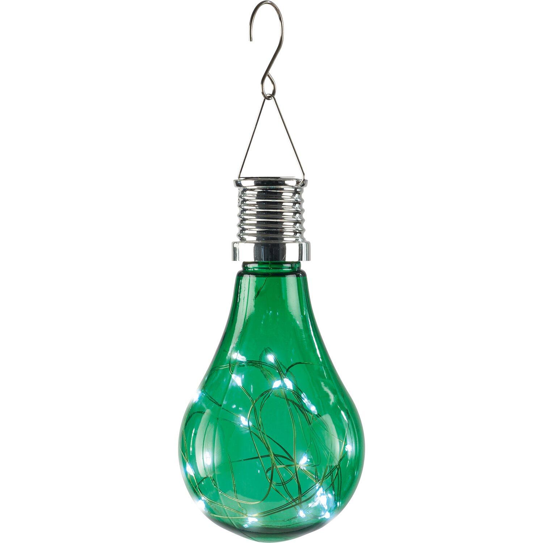 LED-Solar-Pendelleuchte Glühbirne Grün kaufen bei OBI