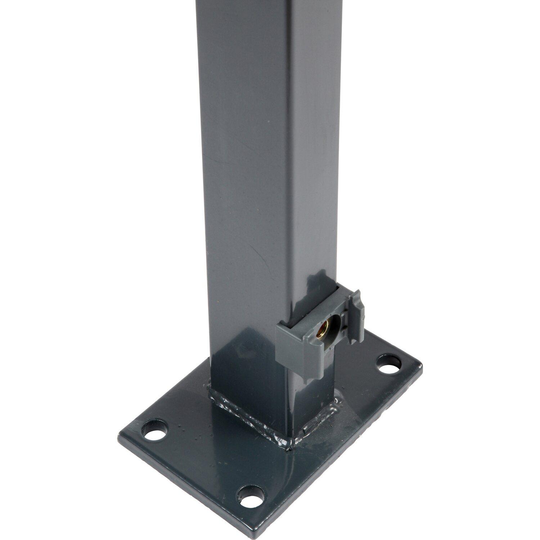 Zaunpfosten Mit Angeschweisster Bodenplatte 129 Cm Anthrazit Kaufen