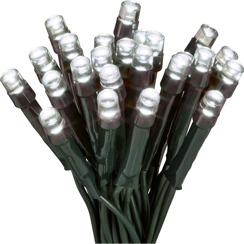 Weihnachtsbeleuchtung Innen Obi.Led Lichterkette 400 Kaltweiße Leds Grünes Kabel Innen Und Außen