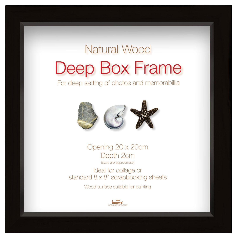 Holz-Bilderrahmen Deep Box Schwarz 20 cm x 20 cm kaufen bei OBI