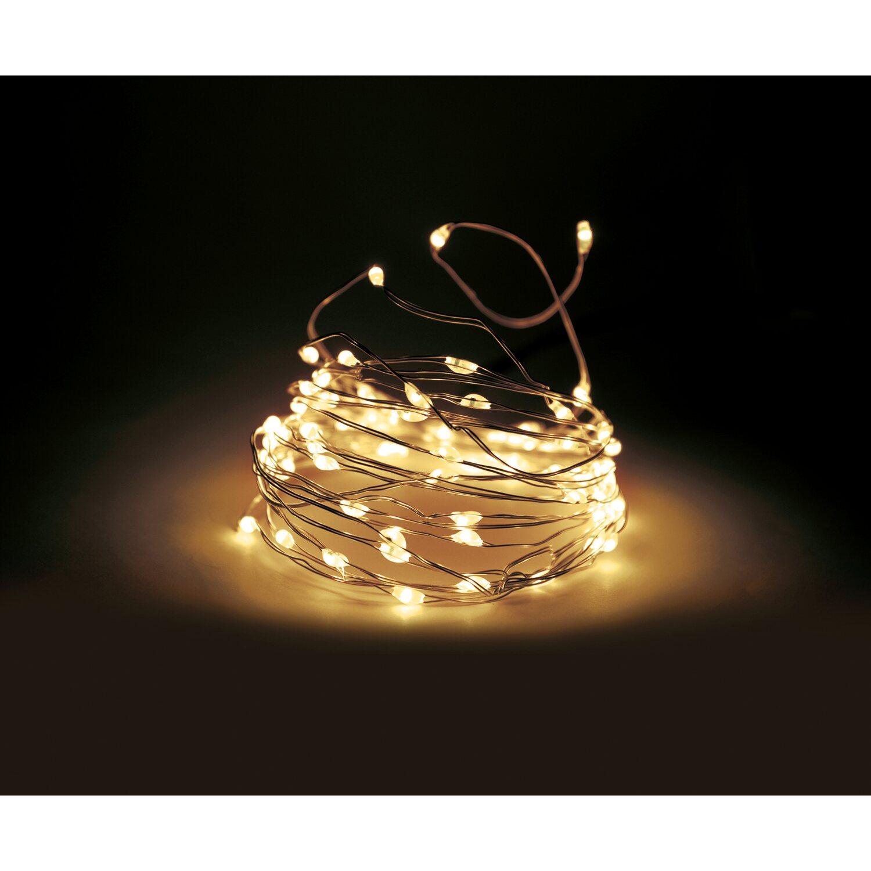 Weihnachtsbeleuchtung Außen Zug.Micro Led Lichterkette 300 Warmweiße Leds Silberdraht Innen Und Außen
