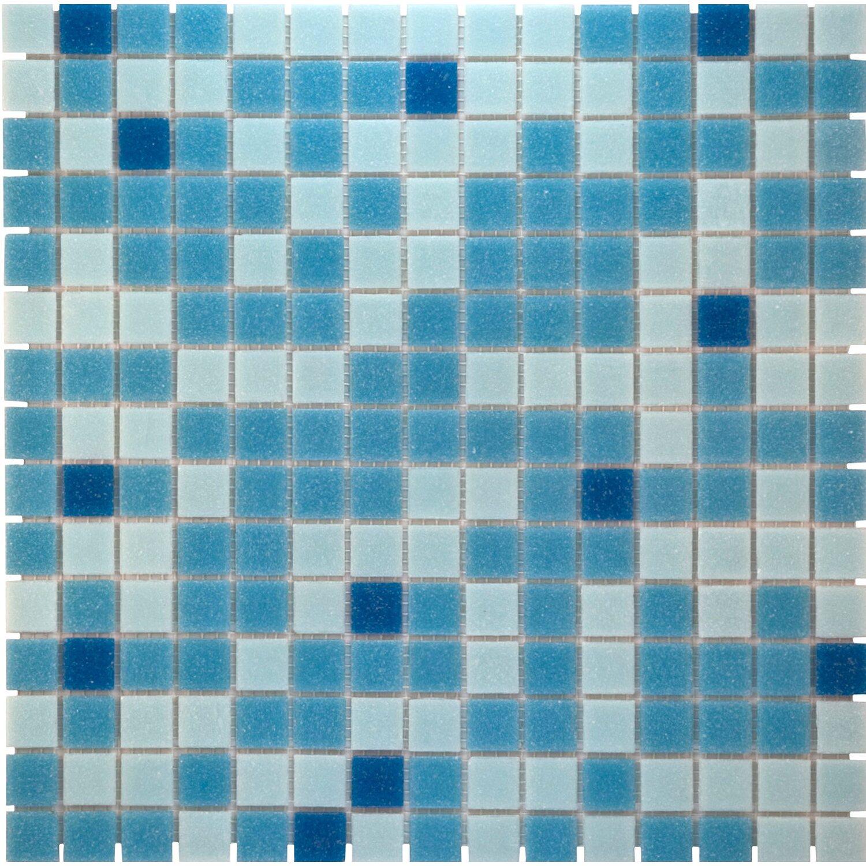 mosaikmatte glas blau mix light 33 cm x 33 cm kaufen bei obi. Black Bedroom Furniture Sets. Home Design Ideas