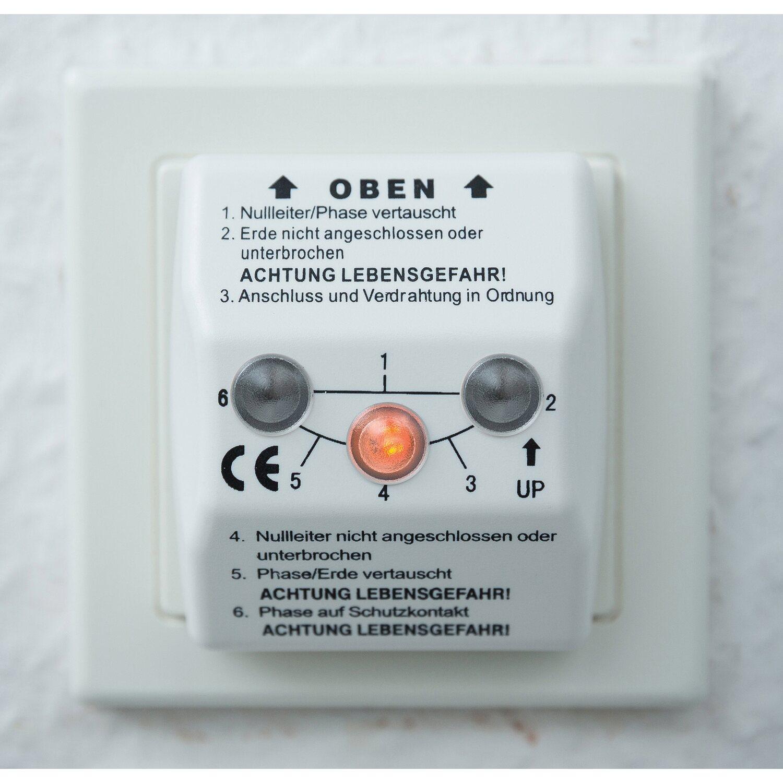LUX Steckdosen-Prüfgerät 6 cm x 5 cm x 6 cm kaufen bei OBI