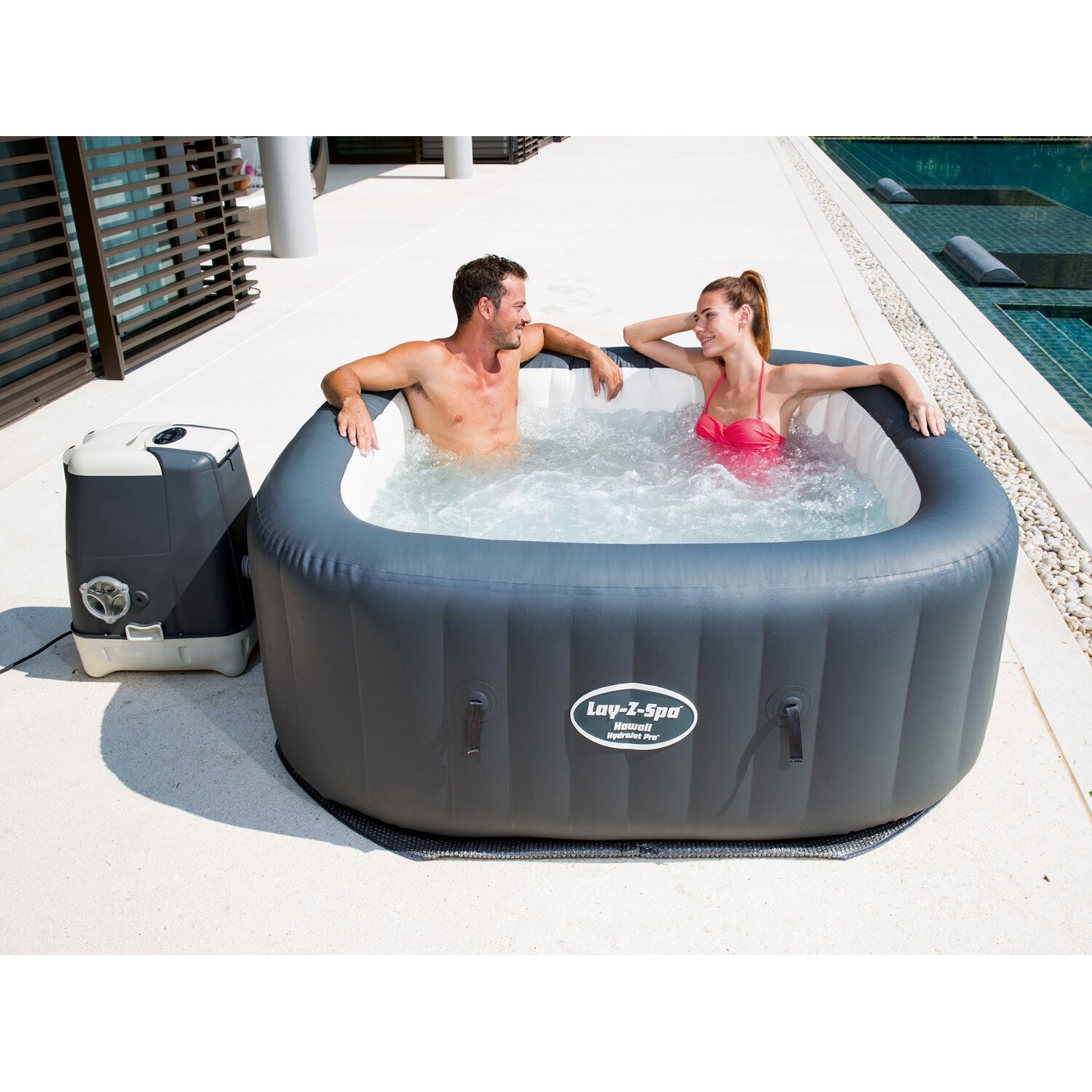 Bestway whirlpool lay z spa hawaii hydrojet pro kaufen bei obi for Swimming pools bei obi