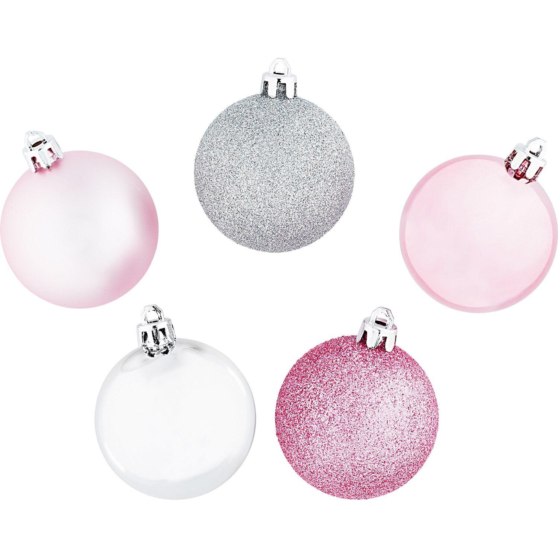 Baumkugel set 20 teilig pink silber kaufen bei obi - Obi weihnachtskugeln ...