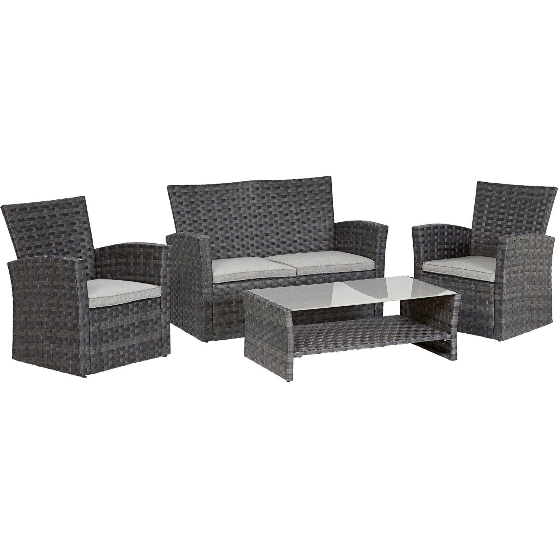kaffee lounge gruppe 4 personen kaufen bei obi. Black Bedroom Furniture Sets. Home Design Ideas