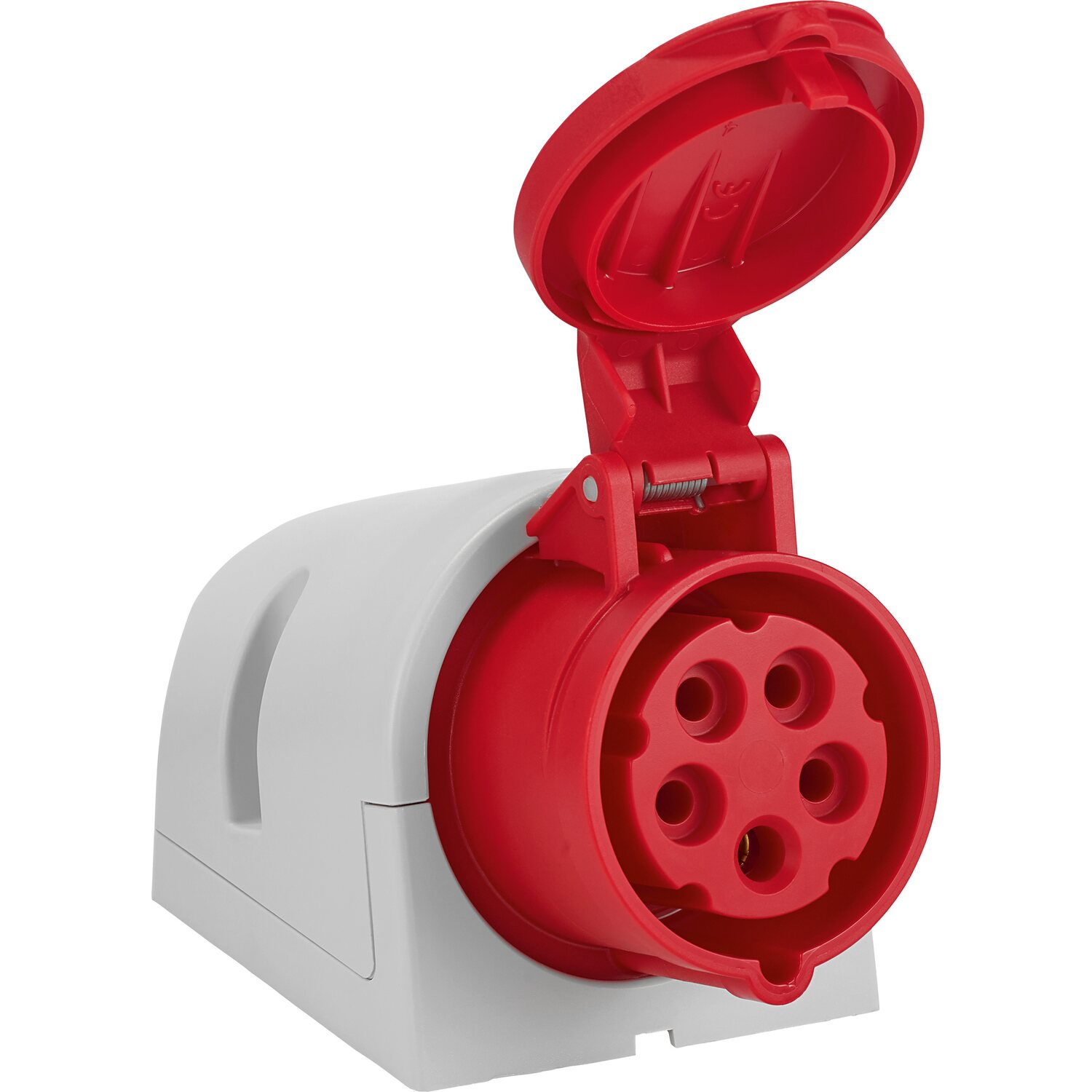 CEE Wandsteckdose 5-polig IP44 16 A Rot