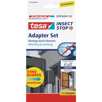 tesa Fliegengitter Alu Comfort Adapter-Set Anthrazit