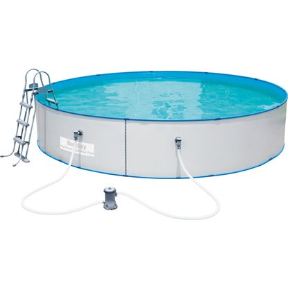 Bestway stahlwand pool set hydrium splasher 460 cm x 90 for Obi pool set