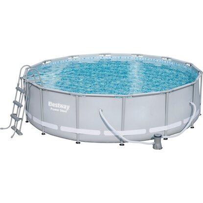 Bestway stahlrahmen pool set 427 cm x 107 cm kaufen bei obi for Bestway pool obi