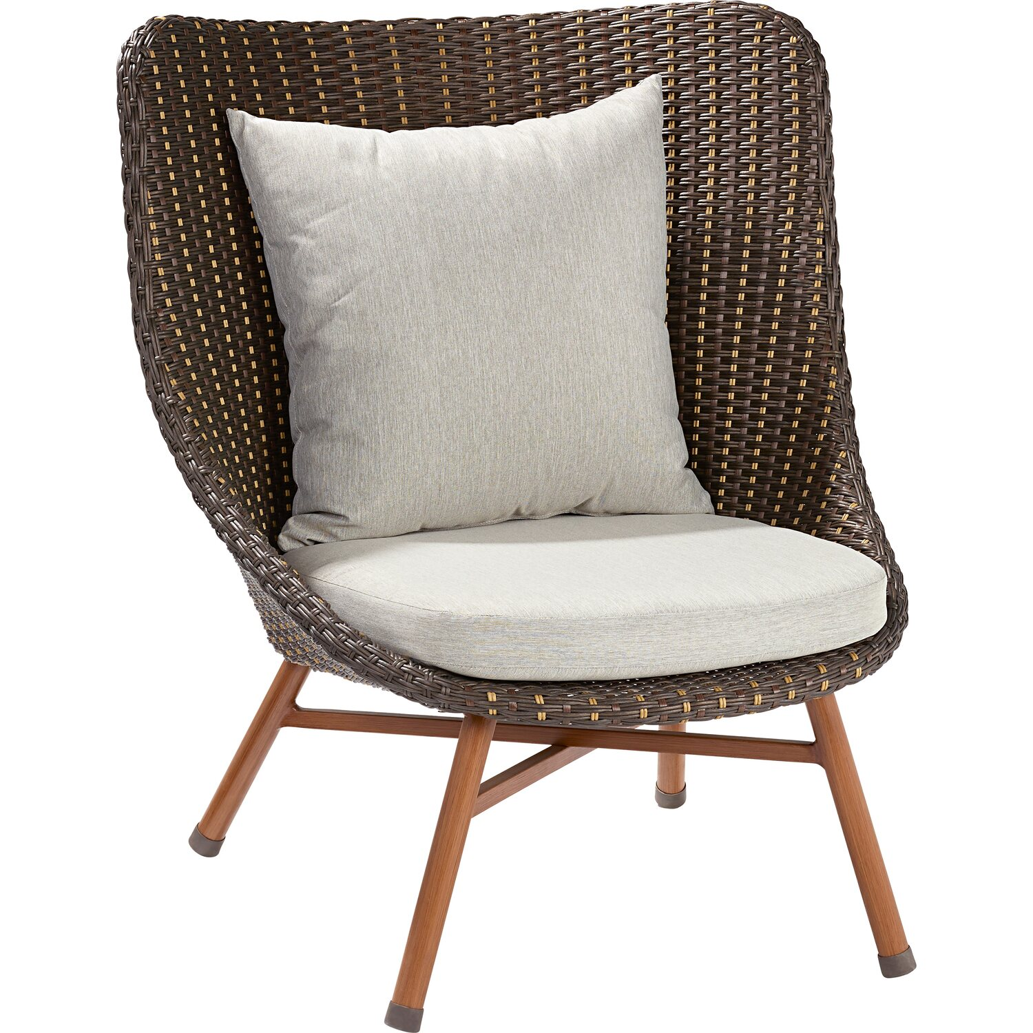 Obi lounge sessel bonfield polyrattan inkl hocker kaufen for Lounge sessel polyrattan