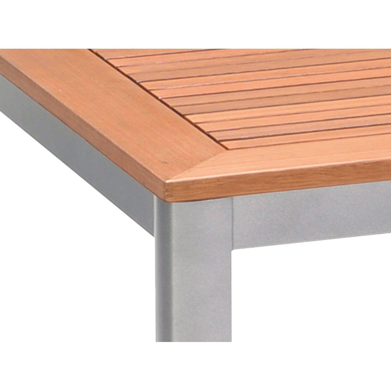 obi holz gartentisch harris quadratisch 90 cm x 90 cm silber kaufen bei obi. Black Bedroom Furniture Sets. Home Design Ideas