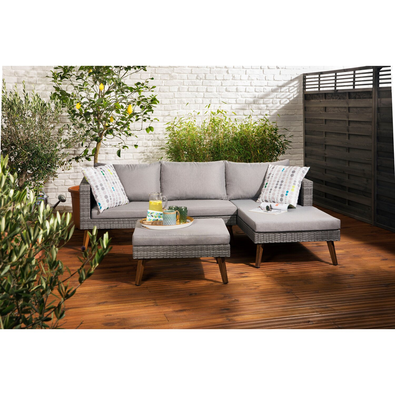 greemotion lounge gruppe gomera polyrattan grau 3 tlg kaufen bei obi. Black Bedroom Furniture Sets. Home Design Ideas
