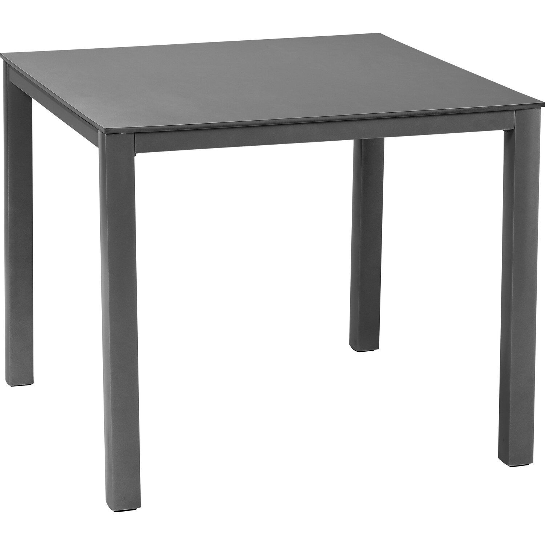 obi glas gartentisch harris 90 cm x 90 cm anthrazit kaufen bei obi. Black Bedroom Furniture Sets. Home Design Ideas