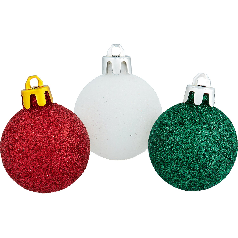 Christbaumkugeln Champagnerfarben.Weihnachtskugel Set 61 Teilig Weiss Rot Grun