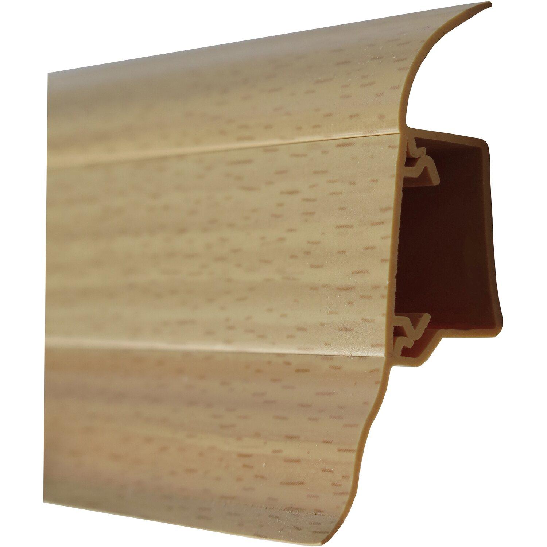 sockelleiste system 5 buche gelb w136 50 mm x 19 mm. Black Bedroom Furniture Sets. Home Design Ideas