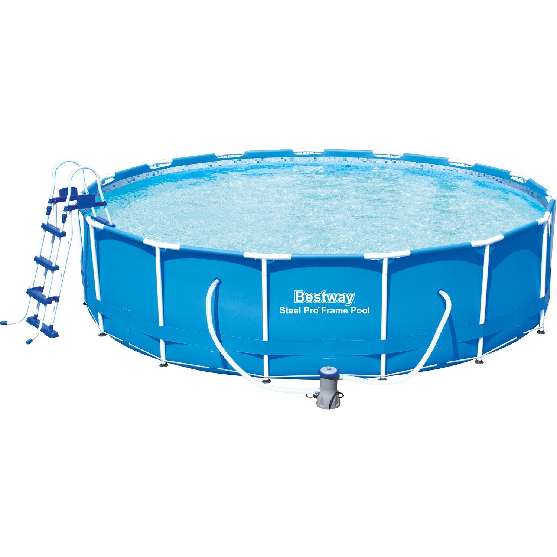 Bestway Stahlrahmen Pool Set 457 Cm X 107 Cm Kaufen Bei Obi