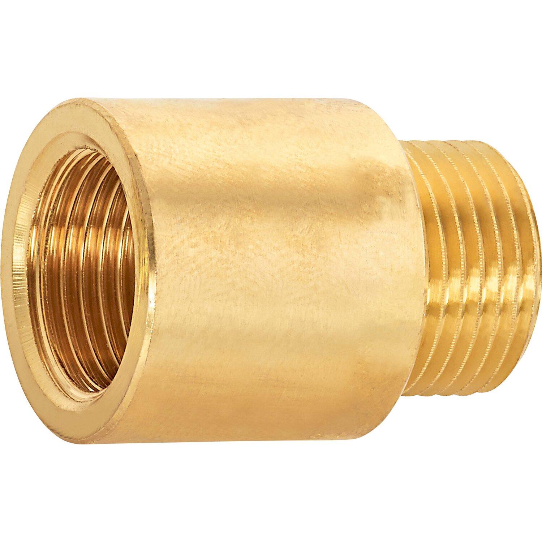 OBI Hahnverlängerung 14,9 mm (Rp 3/8) x 16,7 mm (R 3/8) Messing 20 mm