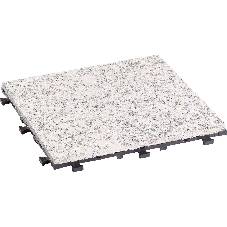 Klickfliese-Naturstein 1-Unit Sino Grau 30 cm x 30 cm x 2,1 cm 4 Stück