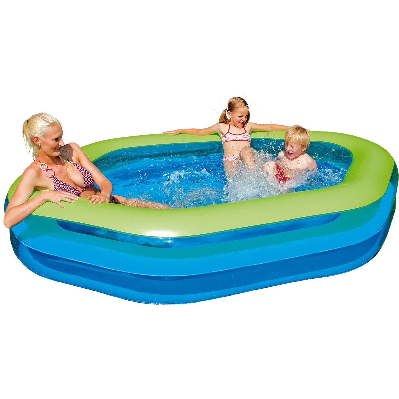 Happy people family pool jumbo hexagon 252 cm x 172 cm x for Swimming pool obi