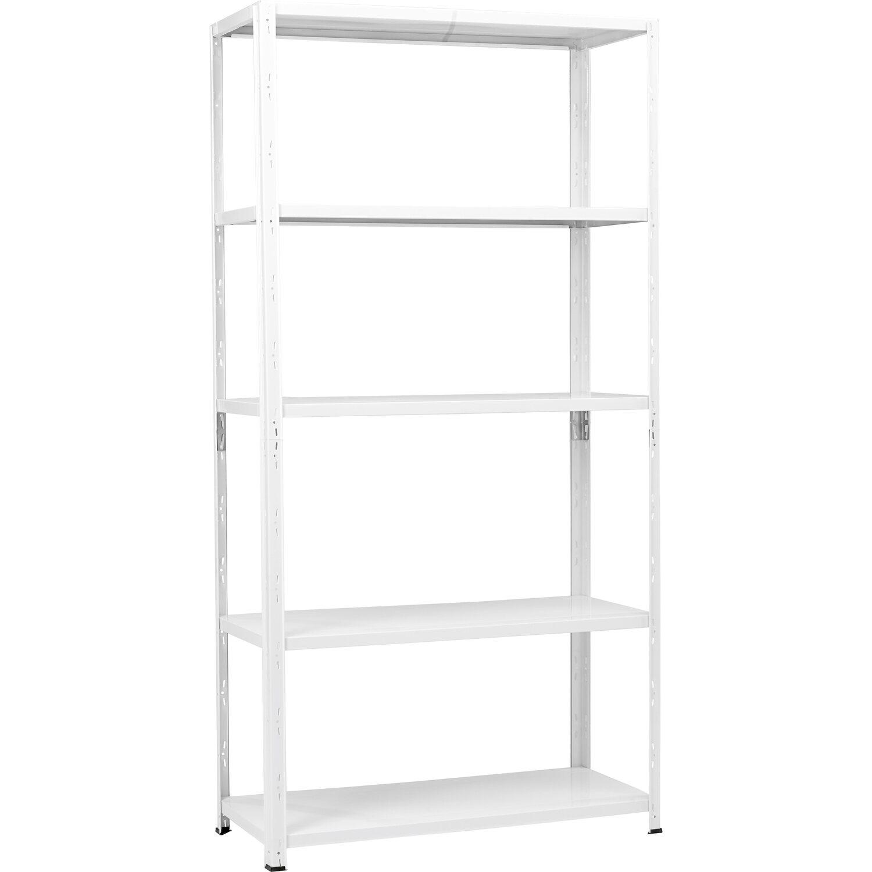 Steckregal Weiß obi metall steckregal weiß 195 x 100 x 40 cm kaufen bei obi