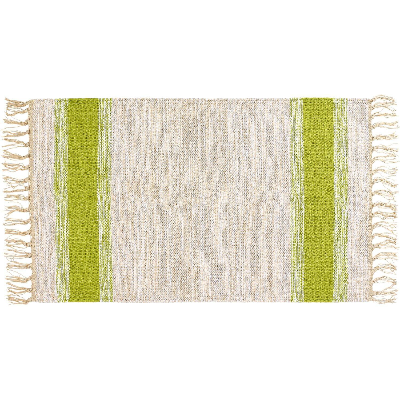 Baumwollteppich mit Streifen Grün 50 cm x 80 cm