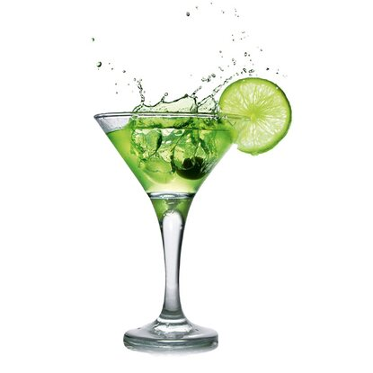 Eurographics Glasbild Lime Cocktail 20 cm x 20 cm