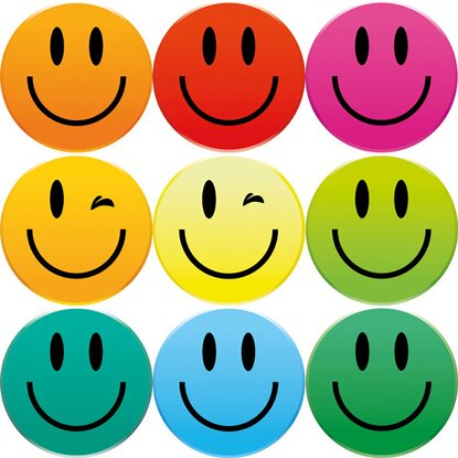 Eurographics Memoboard-Magnetset Smiley Magnets 11,5 cm x 20,5 cm